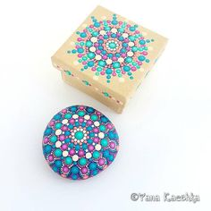 Happy Mandala Stone Set Painted by Yana Kaechka Unique gift for loved one Check out this item in my Etsy shop https://www.etsy.com/listing/619529095/happy-mandala-stone-set-painted-by-yana #mandalastones #mandalastein #pitturadipietra #mandalarock #fairygarden #tabledecor #homedecor #bohodecor
