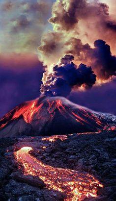 Volcán de Fuego,Guatemala.