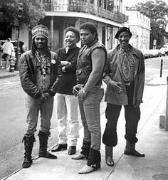 Neville Brothers - New Orleans they may look tough but they are as gentle, sweet, and soft spoken as can be.