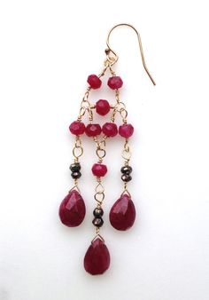 rubies, gold and pyrite