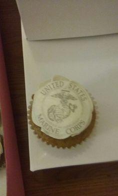 Marine Corps carrot cupcakes