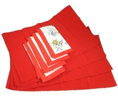 Lenox 12 Days of Christmas 8 Pc Set Placemats & Napkins by Lenox. $30.00. Four 13.5x20-in Red Ribbed Placemats. Twelve Days of Christmas Theme. Four 19x19-in Printed Napkins with Red Border. This delightful set of four placemats and four napkins celebrates the Twelve Days of Christmas.  Included are: 4) 100 Percent Cotton Napkins 19x19in with red border and all 12 days cleverly depicted.  4) 13.5x20 in Red Ribbed Placemats.
