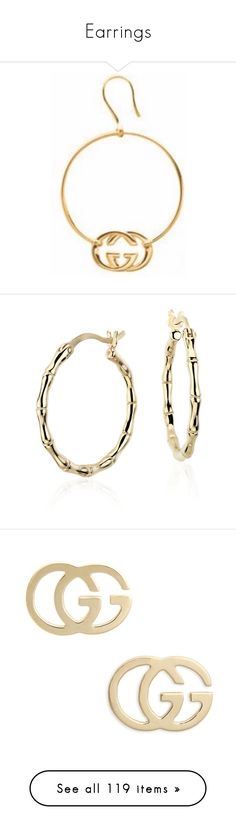 """Earrings"" by styledbyro ❤ liked on Polyvore featuring jewelry, earrings, blue nile jewelry, 14k yellow gold earrings, gold earrings, yellow gold earrings, 14 karat gold earrings, yellow gold, 18k earrings and gucci jewelry"