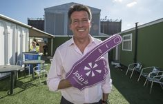 Seb Coe holding his Join In foam finger at the Go Local event this summer. For more info visit the Join In website at www.joininuk.org