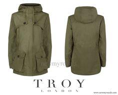 Troy London Wax Parka - Khaki Green