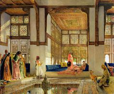 The Reception Painting by John Frederick Lewis - The Reception Fine Art Prints and Posters for Sale