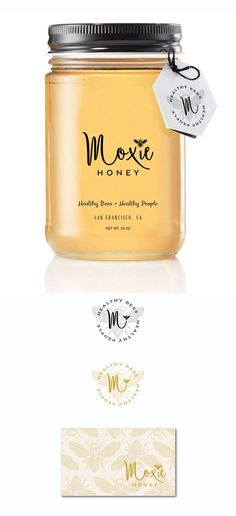 Design #236 by green in blue | Support the Bees! Create a logo for Moxie Honey. #branding #packaging #design #logo #visualidentity