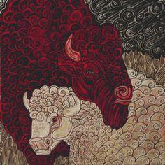 Buffalo Cross Stitch Kit By Lynnette Shelley 'The by GeckoRouge