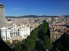 Vue de las Ramblas depuis El Mirador de Colon - #Barcelona