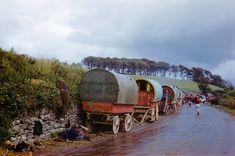 Killorglin, Co Kerry, Ireland, Gypsy wagons Gypsy Caravan, Gypsy Wagon, Inge Morath, Gypsy Living, Gypsy Life, Gypsy Soul, Magnum Photos, Historical Photos, Old Photos