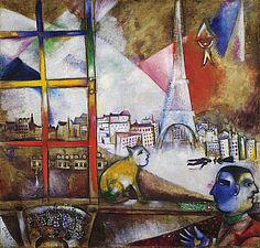 Paris Through the Window by Marc Chagall