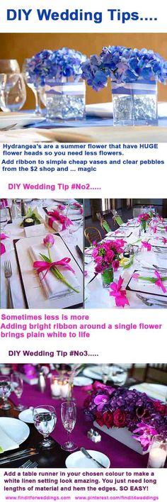 These #DIY wedding decorations are so easy and look great For more inspiration wedding decoration ideas drop by www.finditforweddings.com