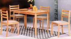 Beautiful 5-pc All Natural Solid Wood Dinette Set by Coaster Home Furnishings. $239.00. Some assembly may be required. Please see product details.. NEW 5-PC ALL NATURAL SOLID WOOD DINETTE SET. WOULD BE A GREAT ADDITION TO ANY KITCHEN OR DINING AREA. SOLID CONSTRUCTION AND LONG LASTING.. Save 43%!