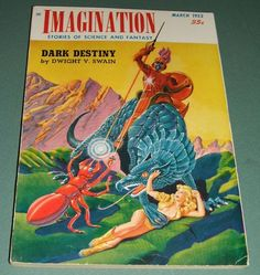 March 1952 Issue of Imagination Storise of Science and Fantasy Great cover art