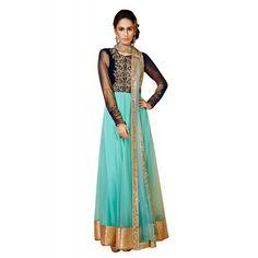 Eid Special Designer Turquoise & Black Salwar Suit-11020( OFB-310 )Karishma