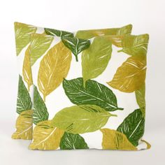 Cut Leaves 20-inch Throw Pillow (Set of 2) | Overstock.com