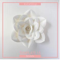 Pdf Paper Flower Template Digital Version With Base  Original
