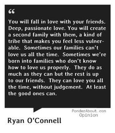 Friendship like family...