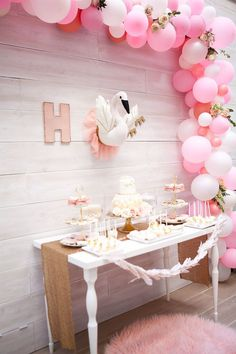 Sweet Swan Birthday Party on Kara's Party Ideas | KarasPartyIdeas.com (33)