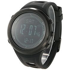 Lixada Multifunction Outdoor Digital Sports Wrist Watch Digital Compass/Pedometer/Altimeter/Barometer/Weather Forecast/ Climbing Running Walking Sport Watch ** Details can be found by clicking on the image. (This is an affiliate link) #FitnessActivityMonitors