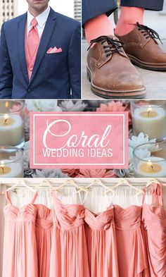 coral wedding color combination options you don t want to overlook