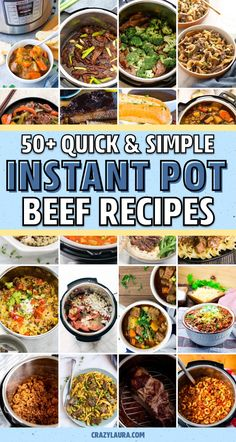 Whether youre looking for a ground beef recipe a super tasty beef stew or a quick beef stroganoff youll find exactly what you need with the ultimate collection of instant pot beef recipe ideas! Beef Recipe Instant Pot, Instant Pot Dinner Recipes, Instant Pot Pressure Cooker, Pressure Cooker Recipes, Slow Cooker, Italian Beef Recipes, Balsamic Pot Roast, Crockpot Recipes, Cooking Recipes