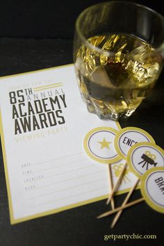 Free Oscar Party Printables | PartyChic