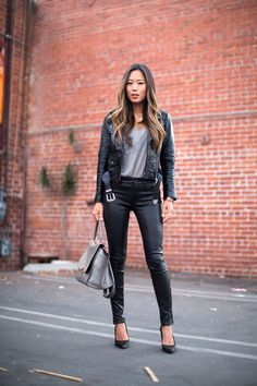 Leather Jacket and Leather Pants - Song of Style