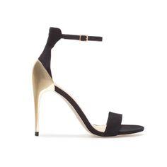 SANDALE COMBINÉE À TALON - Chaussures - Femme - ZARA France
