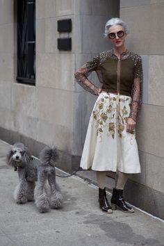 Linda Rodin, 65, and her poodle, Winky, looking fabulous.