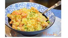 Receita maravilhosa de couscous com camarão! Ela vai impressionar a todos pelo colorido e pelo sabor. Mas quer saber mais? É muito fácil preparar. Vem ver!