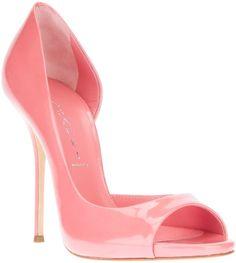 Casadei Pink Open Toe Pump