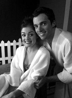 Lucy Hale and Ian Harding
