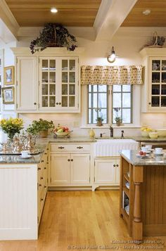 White Country Kitchen By Crown Point Cabinetry On Homeportfolio For Dining Room Ceiling
