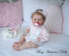 Reborn baby doll Saskia by Bonnie Brown reborned by Mary Anderson Dolls