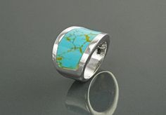 Bague Manchette Turquoise Argent Massif Pierre by KRAMIKE on Etsy
