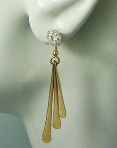 EARRING JACKETS for Studs 14k Gold Gemstone Enhancer by earcuffs, $299.00
