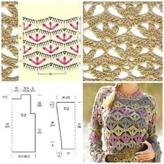 alize bahar batik Crochet Jumper Pattern, Jumper Patterns, Crochet Cardigan, Crochet Lace, Crochet Stitches, Crochet Patterns, Crochet Ornaments, Beautiful Crochet, Crochet Clothes