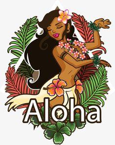 A Bela dançarina de Hula - Hula, Vector Png, Hawaii, Ilhas Havaianas PNG e Vector Hawaiian Girls, Hawaiian Dancers, Hawaiian Art, Vintage Hawaiian, Tahiti, Pin Up Girl Tattoo, Hula Girl Tattoos, Deco Surf, Hawaiian Goddess