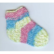 Kids Slipper Socks in Plymouth Encore Worsted Colorspun - F228