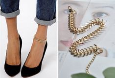 Summer Fashion Fishbone Chain Anklets Bracelet  Foot Jewelry Body Jewelry For Women Gifts Free Shipping