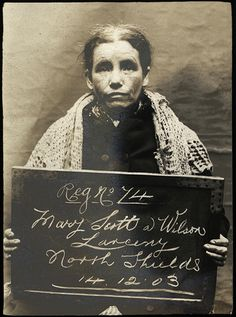 Mary Scott AKA Wilson was arrested for larceny at North Shields Police Station on December 14, 1903