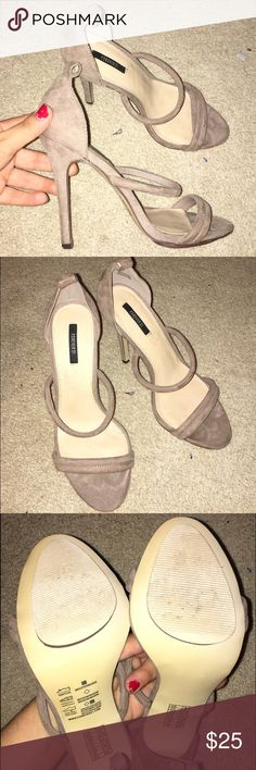Tan heels Worn once so they are in great condition!!! Forever 21 Shoes Heels