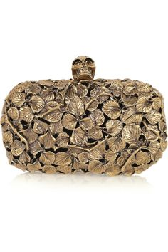 Engraved Leaf and Thorn Box Clutch