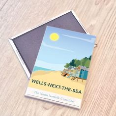 Wells next the Sea, North Norfolk Magnet  £3.00  My Wells next the sea, Norfolk print is now available as a magnet.  Designed by myself and professionally digitally printed and constructed in the UK. Magnet is packaged in branded packaging making it the perfect gift or treat for yourself! Dimensions: 5.5 x 8 cm