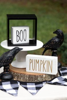 Easy DIY boo and pumpkin block signs are quick to make and easy to decorate your home and office. Learn how to make these. Halloween Signs, Fall Halloween, Halloween Decorations, Quick Crafts, Handmade Signs, Fall Crafts For Kids, Pumpkin Crafts, Fall Signs, Autumn Activities
