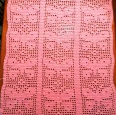 Butterfly filet baby afghan