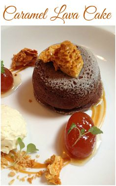 Caramel Lava Cake 110 gms semisweet chocolate 110 gms butter 1/3 cup sugar 2 large eggs 1/3 cup all purpose flour 6 caramel squares