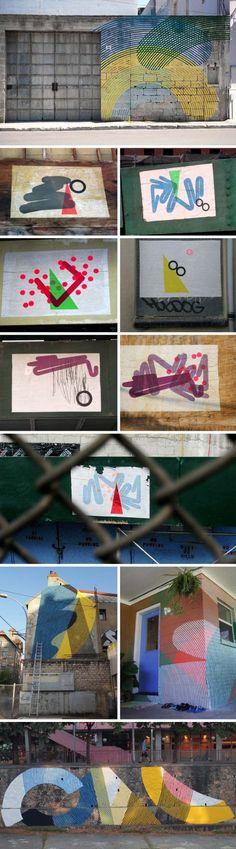 MOMO: Minimalist Geometric Street Art «