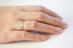 3 rose gold filled stackable skinny rings  hammered by moncadeau, $29.00